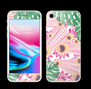 Lyserød påfugl Skin IPhone 8