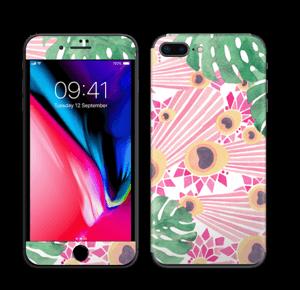 Pavo Real Rosa Vinilo  IPhone 8 Plus