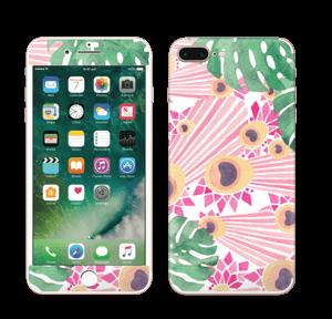 Lyserød påfugl Skin IPhone 7 Plus