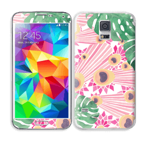 Plantes & plumes roses Skin Galaxy S5