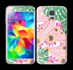 Lyserød påfugl Skin Galaxy S5