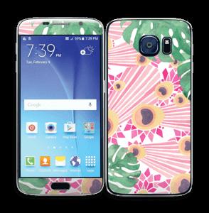 Lyserød påfugl Skin Galaxy S6