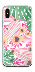 Plantes & plumes roses Skin IPhone X