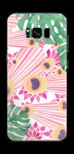 Plantes & plumes roses Skin Galaxy S8 Plus