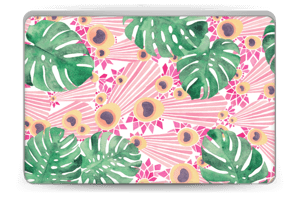 Plantes & plumes roses Skin Laptop 15.6