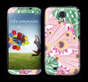 Pinkki riikinkukko tarrakuori Galaxy S4