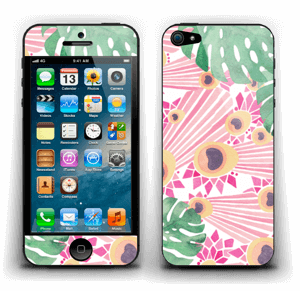 Plantes & plumes roses Skin IPhone 5