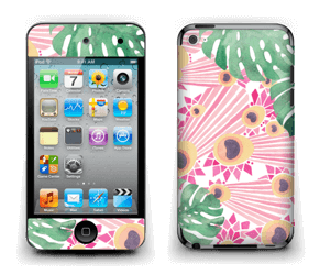 Plantes & plumes roses Skin IPod Touch 4th Gen