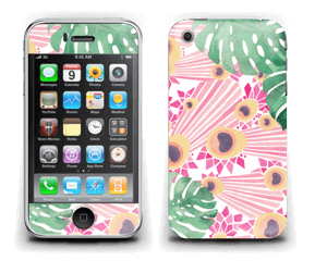 Plantes & plumes roses Skin IPhone 3G/3GS