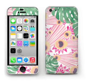 Plantes & plumes roses Skin IPhone 5c