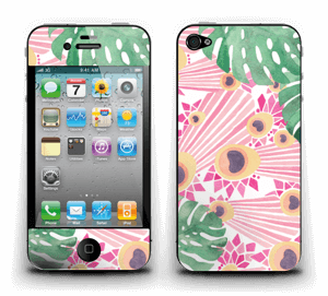 Plantes & plumes roses Skin IPhone 4/4s