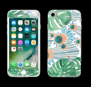 Sininen riikinkukko tarrakuori IPhone 7