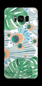 Blue Peacock Skin Galaxy S8