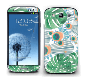 Blå påfugl Skin Galaxy S3