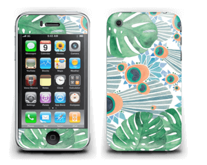 Plantes & plumes bleues Skin IPhone 3G/3GS
