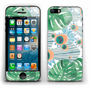 Blue Peacock Skin IPhone 5s