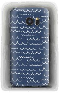 波 ケース Galaxy S7