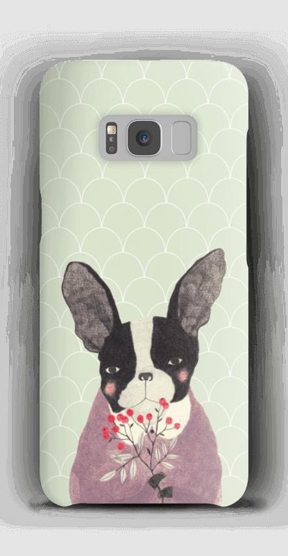 Fransk bulldog skal Galaxy S8