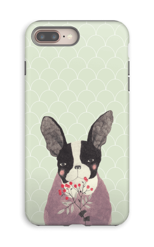 Fransk bulldog skal IPhone 8 Plus tough