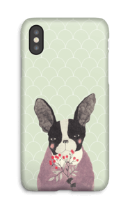 Fransk bulldog deksel IPhone X