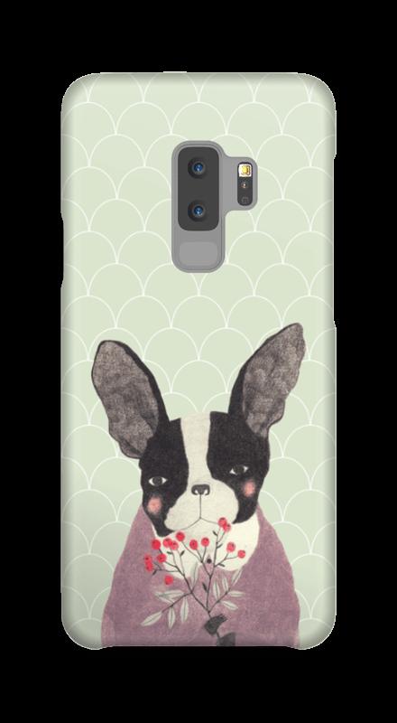 Fransk bulldog skal Galaxy S9 Plus