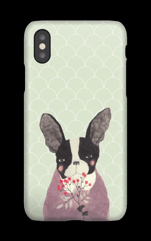 Fransk bulldog skal IPhone XS