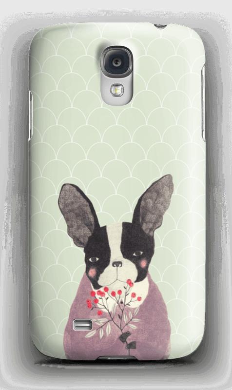 Fransk bulldog skal Galaxy S4