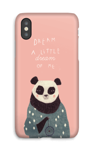 Pink panda case IPhone X