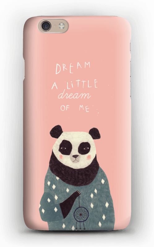 Pink panda case IPhone 6