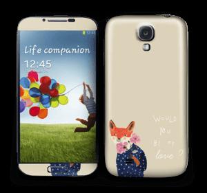 En räv Skin Galaxy S4