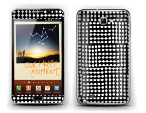 White & Black  Skin Galaxy Note