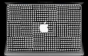 "White & Black  Skin MacBook Air 11"""