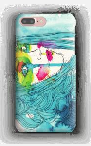 Girl in blue case IPhone 7 Plus