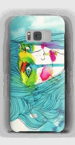 Kvinde i blå cover Galaxy S8