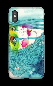 Kvinne i blått deksel IPhone X