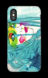 Sininen nainen kuoret IPhone X tough