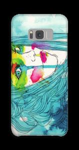Kvinne i blått deksel Galaxy S8 Plus