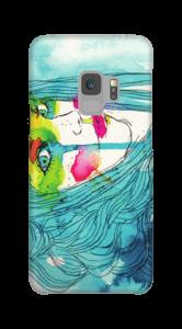 Frau in Blau Handyhülle Galaxy S9
