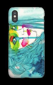 Kvinde i blå cover IPhone XS