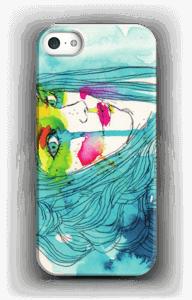 Kvinde i blå cover IPhone 5/5S