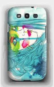 Kvinne i blått deksel Galaxy S3