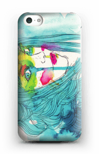 Girl in blue case IPhone 5c