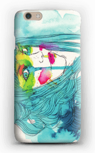 Girl in blue case IPhone 6