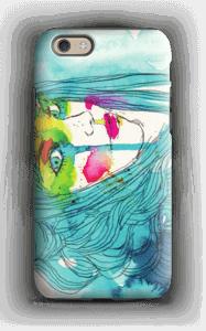 Girl in blue case IPhone 6 tough