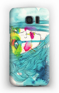 Kvinne i blått deksel Galaxy S6