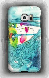 Kvinne i blått deksel Galaxy S6 Edge
