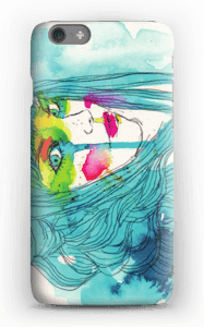 Girl in blue case IPhone 6s