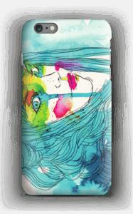 Girl in blue case IPhone 6s Plus
