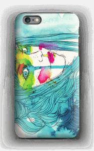 Girl in blue case IPhone 6 Plus tough