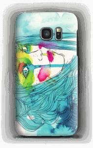 Kvinne i blått deksel Galaxy S7